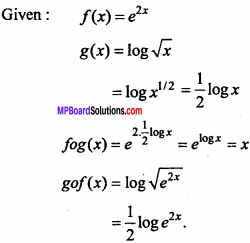 MP Board Class 11th Maths Important Questions Chapter 2 Relations and Functions