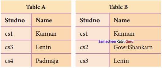 Samacheer Kalvi 12th Computer Science Solutions Chapter 11 Database Concept img 13