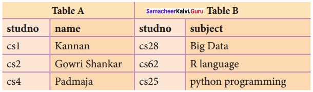 Samacheer Kalvi 12th Computer Science Solutions Chapter 11 Database Concept img 18